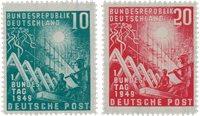 Republique Fédérale d'Allemagne 1949 - Michel 111-112 - Neuf