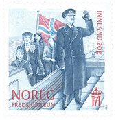 Norge - Afslutningen på 2. verdenskrig - Postfrisk frimærke M.Mörck