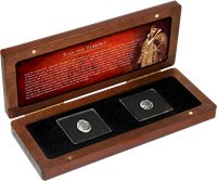 Russia - Ivan the Terrible Wire Money 1547-1584 - Collection - 2 silver coins in a box