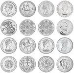 Grande-Bretagne - 1952-81 - Collection royale - 8 monnaies dans un écrin