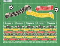 Belgien - Fodbold giver sammenhold - Postfrisk småark