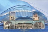 Belgien - Pladser i Liège - Postfrisk miniark