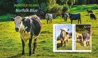 Norfolk Islands - Blå ko - Postfrisk miniark