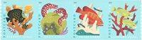 USA - Koraalriffen zelfkl - Postfrisse serie van 4 - van rol