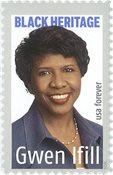 USA - Gwen Ifill - Postfrisk frimærke
