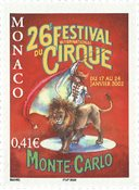 Monaco - Cirkusfestival 2002 - Postfrisk frimærke