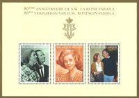 Belgien - Dronning Fabiola - Postfrisk miniark