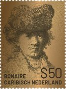 Bonaire - Rembrandt ægte guld - Postfrisk frimærker i skrin