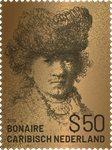 Bonaire Gouden Postzegel Rembrandt van Rijn