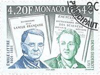 Monaco - Diderot & Littre - Stemplet frimærke