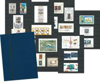 West Duitsland 1959-2000 - 52 gestempelde souvenirvelletjes - in stockboek