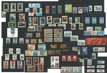 Russia/Soviet Union - 40 stock cards with mint complete sets