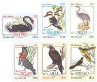 Australie - Oiseaux nationaux des états différents - Série neuve 6v
