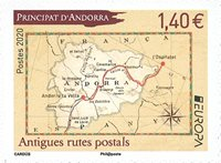 Ranskan Andorra - Eurooppa 2020 - Muinaiset postireitit - Postituoreena