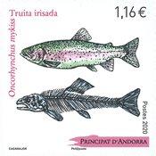 Fransk Andorra - Fisk - Postfrisk frimærke
