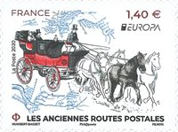 France - Europa 2020 Anciennes routes postales - Timbre neuf