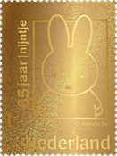 Netherlands - Miffy gold stamp 24 carat - Mint stamp in box