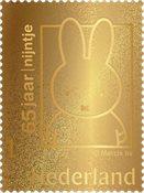 Pays-Bas - Miffy/Nijntje en or - Timbre en écrin