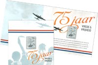 Netherlands - 75th anniversary of the liberation of the Netherlands - Mint silver stamp in booklet