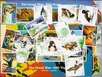 Jersey - 16 verschillende gestempelde postzegels en 20 souvenirvelletjes