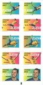 Sverige - Zlatan Ibrahimovic - fodbold - Postfrisk frimærkehæfte 10v