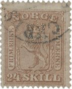 Norge 1863-66 - AFA 10 - Stemplet