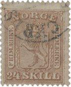 Norvège 1863-66 - AFA 10 - Oblitéré