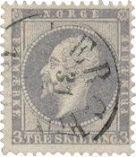 Norvège 1856-57 - AFA 3 - Oblitéré