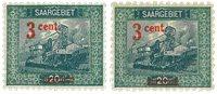Sarre - 2 timbres neufs Y&T nos 69 et 69a