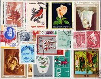 Hele verden - 200 forskellige stemplede frimærker