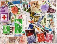 Grande-Bretagne - 500 timbres oblitérés différents