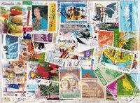 Australie - 400 timbres oblitérés différents