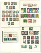 Allemagne de l'Ouest - Collection sur feuilles d'album 1954-1970