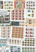 Diverse lande - Moderne miniark postfriske og ubrugte