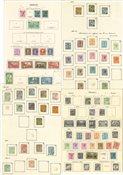 Monaco - Collection sur feuilles d'album 1890-1948