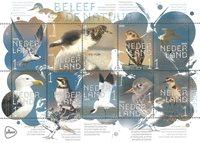 Holland - Kystens fugle - Postfrisk miniark