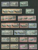 Ascension - 1 indstikskort med 32 postfriske frimærker