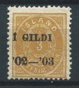 Islande 1902 - AFA 23B - Neuf avec charnière