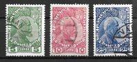 Lichchtenstein  1912 - AFA 1a+2a+3a - Oblitéré