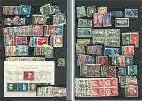 Diverse lande - Blandet lot, postfrisk/ubrugt på indstikskort