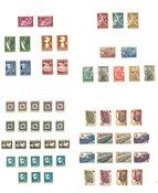 Bulgarien - Samling i læderalbum 1945-49