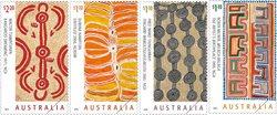Australien - Ørkenkunst - Postfrisk sæt 4v