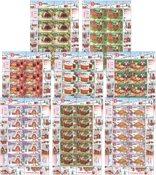 Jersey - Set of 8 cancelled souvenir sheets - Christmas 2013
