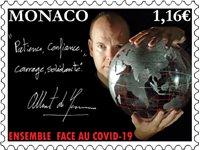 Monaco - Covid-19 solidaritet - Postfrisk frimærke