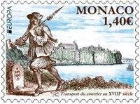 Mónaco - Europa / Rutas postales antiguas - Sello nuevo