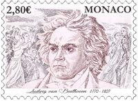 Monaco - Ludwig van Beethoven - Postfrisk frimærke