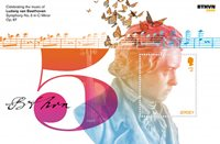 Jersey - 250 ans de la naissance de L.V. Beethoven - Bloc-feuillet neuf