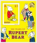 Guernesey - 100ans *Rupert the Bear* - Bloc-feuillet neuf