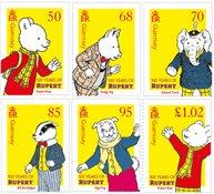 Guernesey - 100ans  Rupert the Bear - Série neuve 6v