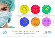 United Nations - COVID-19 - Mint sheetlet